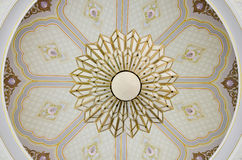 Ceiling Light with graphic art Stock Image