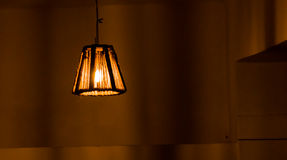 Ceiling Light. Illuminated Ceiling Light in the corner of a room Royalty Free Stock Images