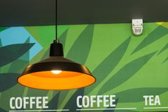 Ceiling light moden design for coffee shop. Stock Photography