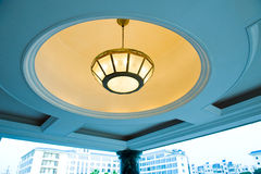 Ceiling lighting of hotel Stock Photos
