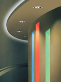 Ceiling Lighting Using Downlight and LED RGB Color Royalty Free Stock Photos