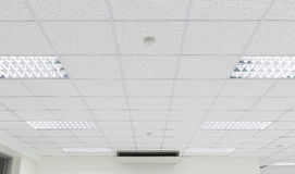 Ceiling lighting white Royalty Free Stock Photo