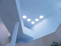 Ceiling lights. Inside a modern building Royalty Free Stock Photography