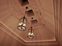 Ceiling Lights. Closeup of elegant ceiling lights and shadows Royalty Free Stock Photography