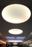Ceiling Lights. Architectural Interior Image - Big Round Ceiling Lights And Skylight Royalty Free Stock Photography