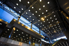 Ceiling with lights Royalty Free Stock Image