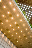 Ceiling lights. The design of ceiling lighting in a modern building stock photo