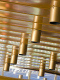 Ceiling lights abstract. Abstract composition of modern design ceiling lights stock photography