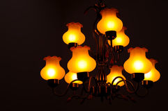 Ceiling Lights chandelier stock photography
