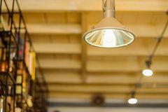 Ceiling lights in coffee shop. Royalty Free Stock Images