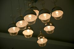 Ceiling Lights. Design similar a wine glass Royalty Free Stock Photography