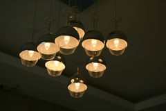 Ceiling Lights. Design similar a wine glass Royalty Free Stock Image