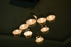 Ceiling Lights. Design similar a wine glass Stock Photography