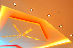 Ceiling lights graphic design royalty free stock photo