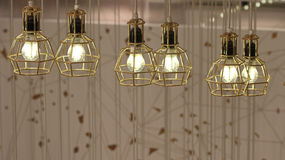 Ceiling lights. A group of six ceiling lights Royalty Free Stock Photos