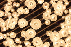 Ceiling lights. Hall ceiling lights, by the combination of many small lights royalty free stock images
