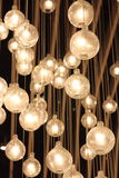 Ceiling lights. Hall ceiling lights, by the combination of many small lights stock image