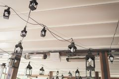 Ceiling lights in the house, lanterns.  Royalty Free Stock Image