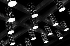 Ceiling lights. Modern and stylish hanging ceiling lights Stock Images