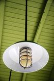 Ceiling lights. There is a ceiling lamp vintage stock photography