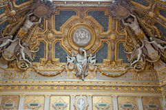 Ceiling in the Louvre Museum in Paris, France. Royalty Free Stock Image