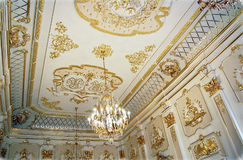 The ceiling of a luxurious royal palace Royalty Free Stock Photography