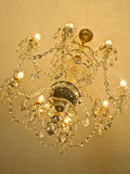 Ceiling luxury crystal chandelier Stock Photos