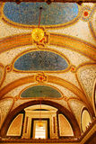 The ceiling of Macys in Chicago. The Mosaic Tiles on the Ceiling of Macys Department Store, Chicago Stock Images