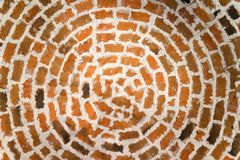 Round brick ceiling Royalty Free Stock Images