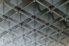 Ceiling is made of metal rods Stock Image