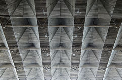 Ceiling is made of metal rods Royalty Free Stock Image
