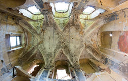 Ceiling in the main hall - Brnky castle Stock Photography