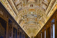 Ceiling of Maps Gallery in Vatican museum Stock Photography