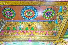 The ceiling of Matale Hindu Kovil Stock Photos
