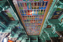 Ceiling Meenakshi Sundareswarar Temple in Madurai Royalty Free Stock Photos