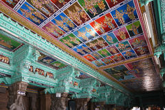 Ceiling Meenakshi Sundareswarar Temple in Madurai Stock Image