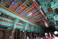 Ceiling Meenakshi Sundareswarar Temple in Madurai, South India Stock Photography