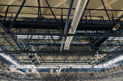 Ceiling metal construction and ventilation. Royalty Free Stock Image