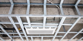 Ceiling metallic frame Stock Images