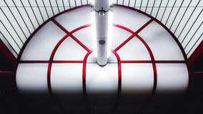 Ceiling in the metro station at Munich Ostbahnhof. Detail, abstract shot of a section of ceiling in Munich`s Ostbahnhof underground U-Bahn Metro station stock photo