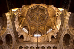 Ceiling of Mezquita of Cordoba Spain Royalty Free Stock Photography