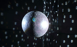 Ceiling mirror ball detailed stock image Stock Photos