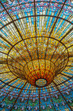 Ceiling in Misic Palace, Barcelona, Spain Royalty Free Stock Photos