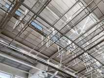 Ceiling of modern storehouse Royalty Free Stock Image