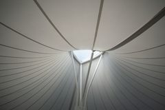 Ceiling of a modern structure royalty free stock image
