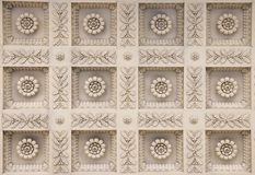 Ceiling moldings. Of the main building of the Moscow State University royalty free stock photos