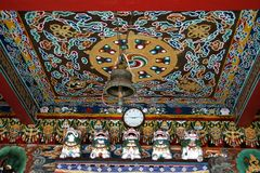 Ceiling of Monastery. Painting on ceiling of Rumtek Monastery, Gangtok, Sikkim Royalty Free Stock Photography