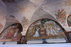 Ceiling of the monastery Saint Catherine, Santa Catalina, Arequipa, Peru. Stock Photography