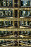 Ceiling of Monreale cathedral Stock Photos