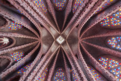 Ceiling of Montserrat Sanctuary. Ceiling of the Sanctuary of Montserrat in Montferri, Tarragona, Catalonia stock images
